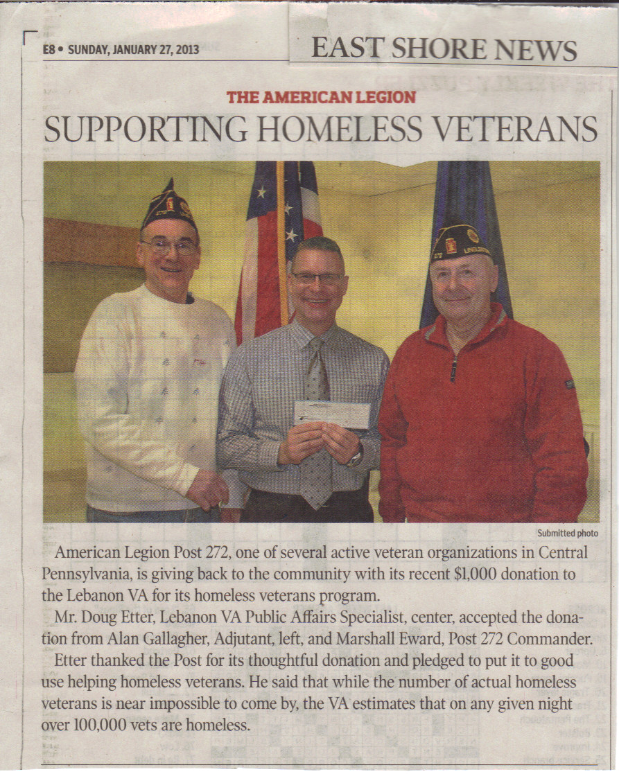 Homeless Vets Donation